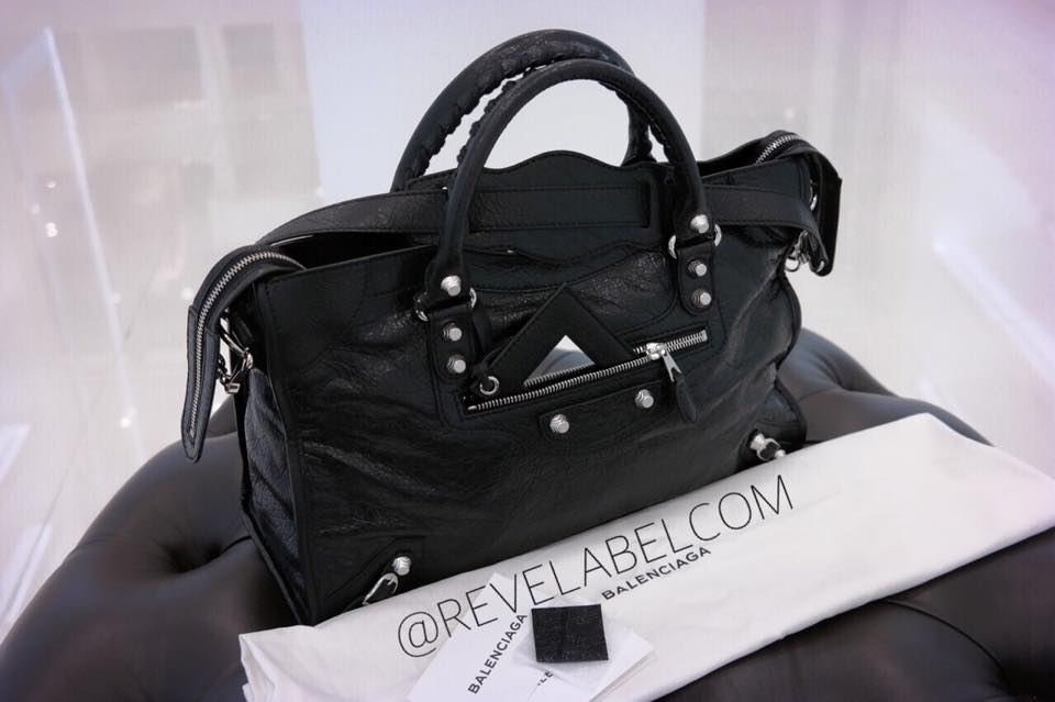 Balenciaga Giant 12 Silver Mini City Black/Black