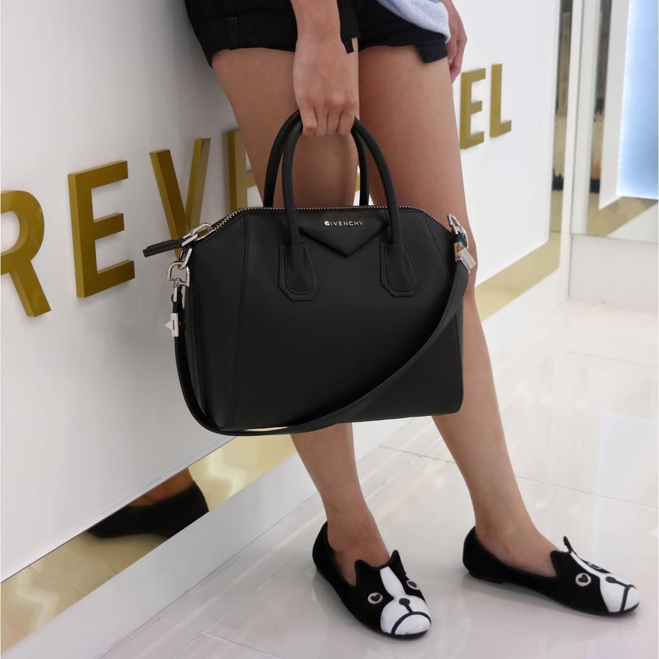 Givenchy Antigona Small Black Goat Leather
