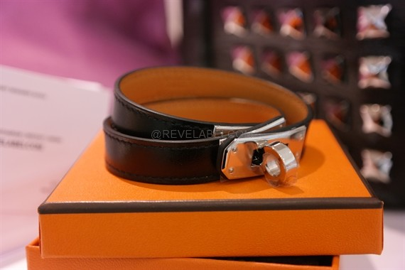 08859f5ec2 ... hot hermes kelly double tour bracelet black phw m bce87 409f8