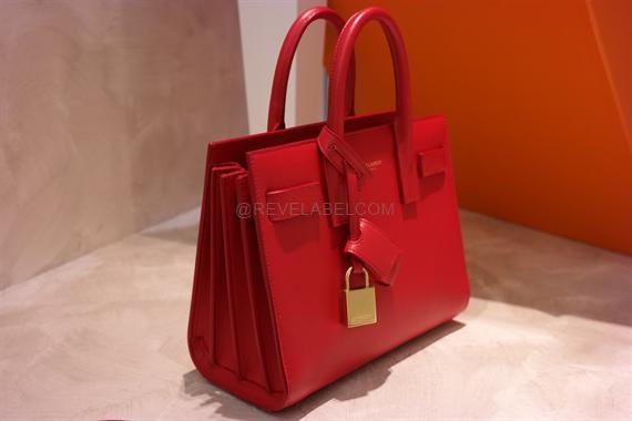 42bae2ba79 Saint Laurent Nano Sac De Jour in Lipstick Red Calf Leather