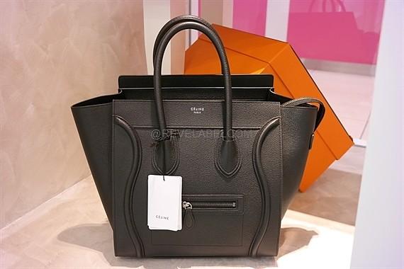 044f629aab03 Celine Mini Luggage Black Drummed Calf Leather