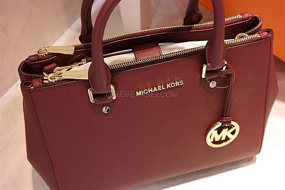 9cdc1232db7e Michael Kors Sutton Medium Satchel Merlot 30S4GTVS6L