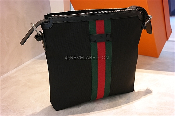 b2c0877f2469 Gucci Web Band Canvas Messenger Bag