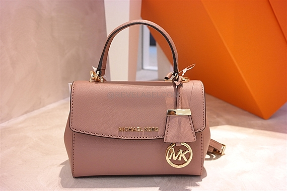 Michael Kors Ava Extra-Small Saffiano Calf Crossbody Dusty Rose ... 4efdd279ebfac