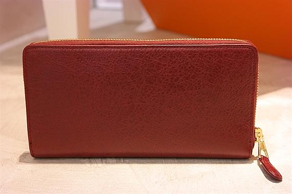 balenciaga giant gold zip wallet rouge cerise. Black Bedroom Furniture Sets. Home Design Ideas