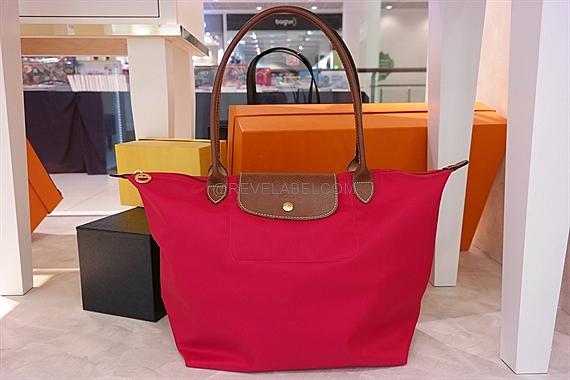 Longchamp Le Pliage Long Handle Large Red 1899 089 270 - REVE LABEL ba827adc15d75