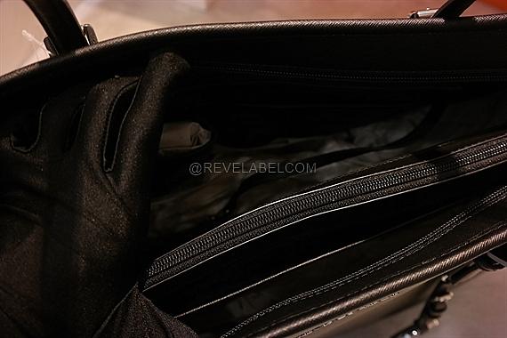 14f85f1fb63b Michael Kors Jet Set Travel Medium Saffiano Leather Top-Zip Tote Black  30T5STVT2L