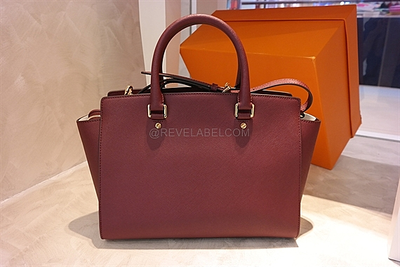 1a016fc8570a2 Michael Kors Selma Large Saffiano Leather Satchel Merlot 30S3GLMS7L