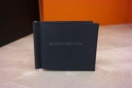 fb6cf0263f2d Prada Saffiano Money Clip Wallet Baltico 2MN077 (1)