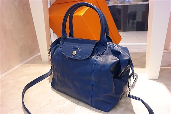 Longchamp Le Pliage Cuir Small Blue 1512 737 127 | REVE LABEL