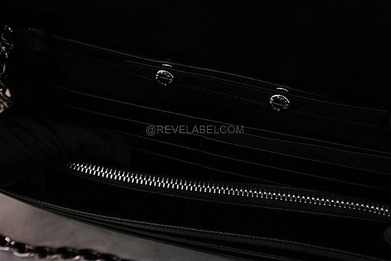 fcfe1ebe6025 Prada Saffiano Wallet with Chain Black 1MT290 QWA F0632 - REVE LABEL