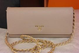 515554030fa5 Prada Saffiano Wallet with Chain Cammeo 1MT290 QWA F0770 (1)