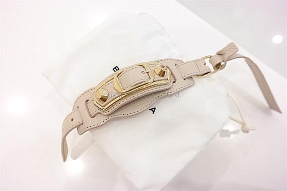 Balenciaga Classic Metallic Edge Bracelet Beige Gold