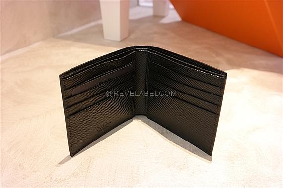 bba6a0287bbc ... best price prada saffiano cuir men wallet black 2mo513 2e3e f0002 reve  label fd768 e1f49