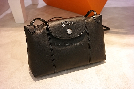 Longchamp Le Pliage Cuir Crossbody Black 1061 737 001 - REVE LABEL dc852aeeba