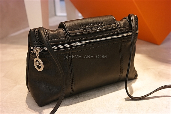 851d17f8350c Longchamp Le Pliage Cuir Crossbody Black 1061 737 001 - REVE LABEL