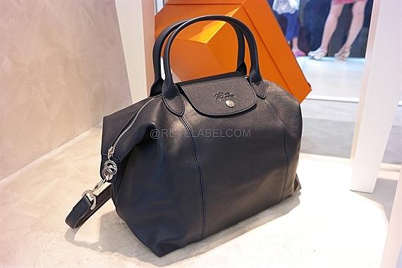 Longchamp Le Pliage Cuir Medium Navy 1515 737 556 | REVE LABEL
