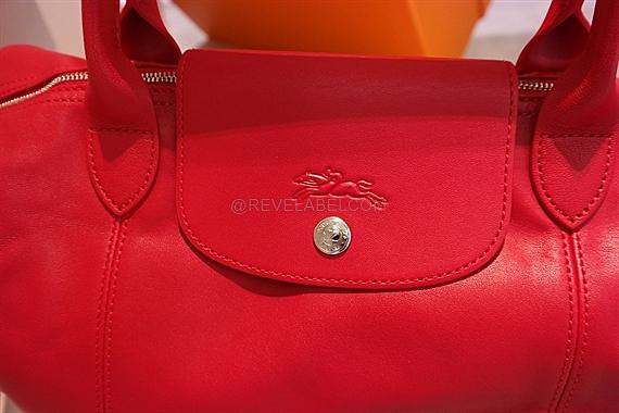 d54dbea0269f Longchamp Le Pliage Cuir Medium Red 1515 737 045 - REVE LABEL