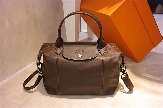 Longchamp Le Pliage Cuir Small Terra Brown 1512 737 C95 | REVE LABEL