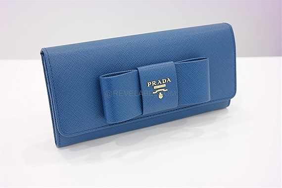 ef0b3f49eb14e1 ... shopping prada saffiano ribbon bow flap wallet cobalt blue 1mh132 ztm  f0215 23658 994d0