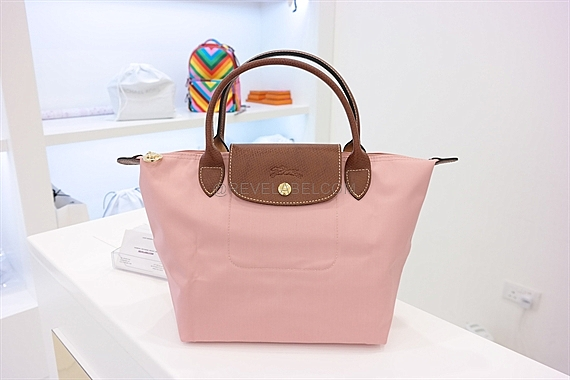 4fefc2e2989c Longchamp Le Pliage Short Handle Small Milk Pink 1621 089 A26 - REVE ...