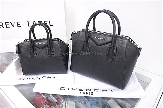 7c1637a9b2 Givenchy Antigona Small Black Grained Goat Leather 5117 012 001 - REVE LABEL