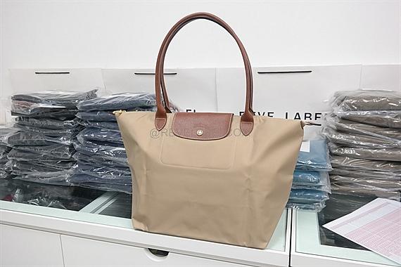 Longchamp Le Pliage Long Handle Large Beige 1899 089 841