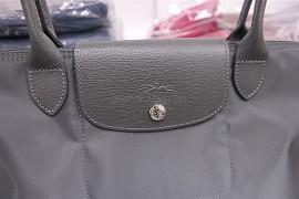 9489233fc8e4 Longchamp Le Pliage Neo Long Handle Small Dark Grey 2605 578 112 (4)