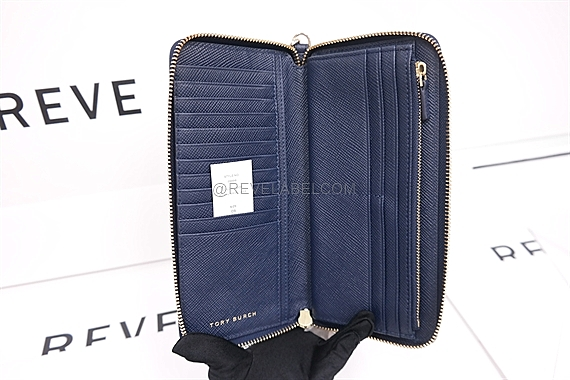 e30a94202df Tory Burch Perry Wallet Navy 29998 403 - REVE LABEL