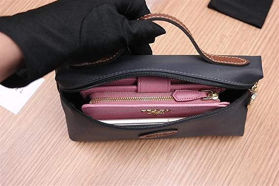 1c9f359daa Longchamp Le Pliage Cosmetic Case Gun Metal 3700 089 300 - REVE LABEL