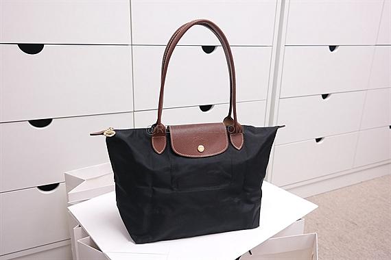 Longchamp Le Pliage Long Handle Small Black 2605 089 001 Reve Label
