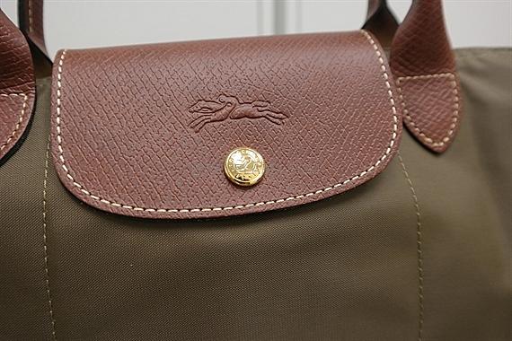 8a55c05eb2d921 Longchamp Le Pliage Medium Short Handle Khaki 1623 089 A23 - REVE LABEL