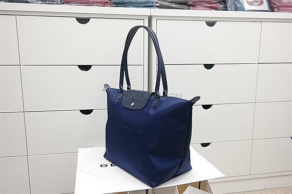 Longchamp Le Pliage Neo Long Handle Large Navy Blue 1899 578 556 ... 0153a76112af7