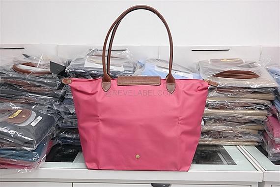 7691db7045 Longchamp Le Pliage Long Handle Large Pink 1899 089 B49 - REVE LABEL